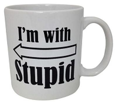 Click to get Im With Stupid Mug