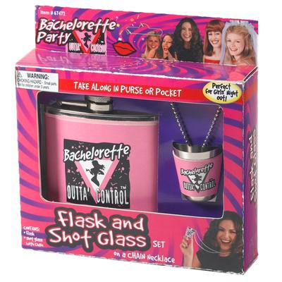 Click to get Bachelorette Flask and Shot Glass Set