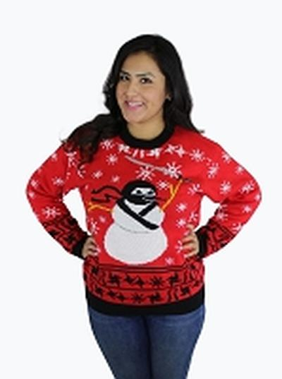 Click to get Ugly Christmas Sweater Ninja Snowman