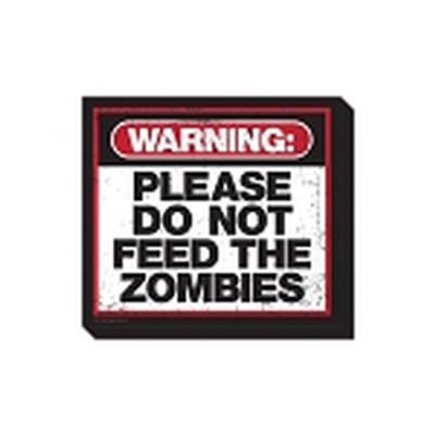 Click to get Zombie Warning Magnet
