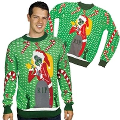 Click to get Ugly Christmas Sweater Zombie Santa