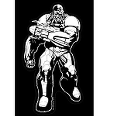 Click to get Justice League Car Decal Cyborg